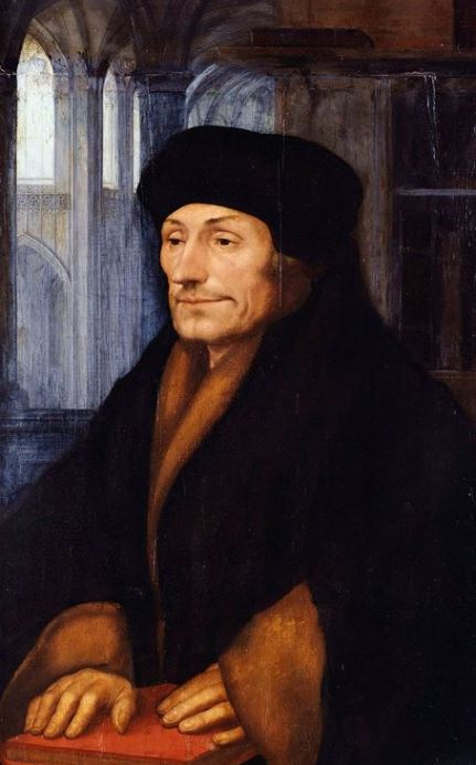 Erasmus, portrait by Hans Holbein the Young (1523)